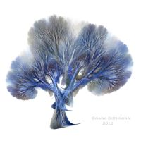 fractal tree 23 - blue by Alvenka