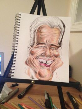 Process: Arnold Schwarzenegger Caricature 3 of 10 by AcrylicInk