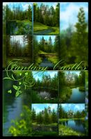 Fantasy Castles Backgrounds by moonchild-ljilja