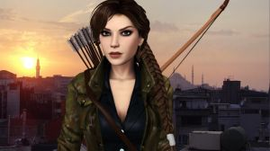 Lara_Croft_Rooftop by ivedada