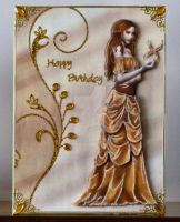 An Amber Beauty for Dawns Birthday Card by blackrose1959