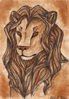 Tea painting - Lion by TheGraySide