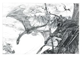 The Lord of the Rings - Nazgul Attack by DiegoCR