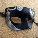 Small Leather SteamPunk Silver by merimask