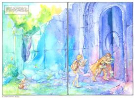 Izul's Tale - Pages 2 and 3 by Yakra