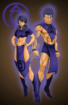 Gohan and Videl of the Indigo Tribe by comicartist88