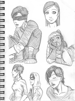 X Men Doodles 2 (Movieverse) by EveryDayArtist