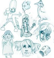 sketch page by Yoell