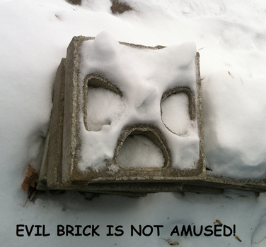 Evil Brick is Angry by djoneill