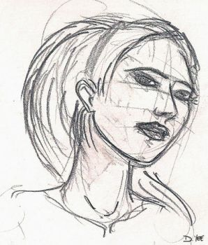 quick face drawing by gkotm