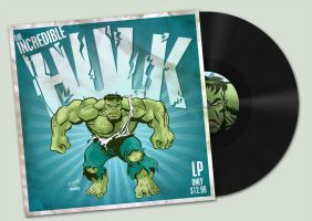 Incredible Hulk LP by MattKaufenberg