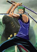 Zoro one piece by kevinbacon97