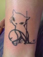 Lil' cat with hidden letters by Tristana-Gray