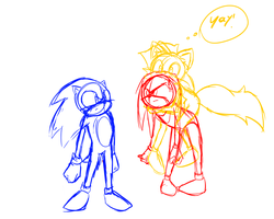 Sonic Tails Knuckles request by BobbytheFurious