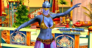 Liara T'Soni   BELLY-DANCER    8-1-2015 by blw7920