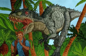 If something chases you... RUN !! Jurassic World by pepsilver