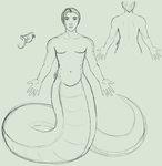 UnrestWorld - Male Lamia by Enalon