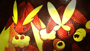 Lopunny + Mega Lopunny Wallpaper by Glench
