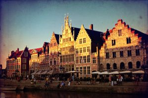 Ghent at dusk by ralucsernatoni