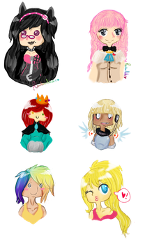 Chibi Head Collection by sinfulbearer