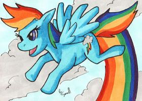 Rainbow Dash by ibroussardart