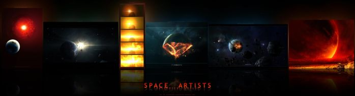 Destroyed Worlds by Space-Artists