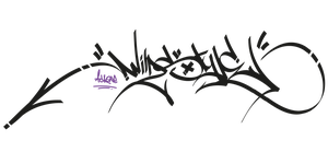 handstyle of the wildstyle by littlegreenstars