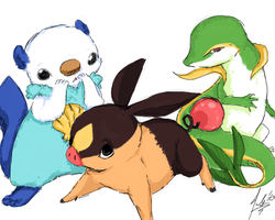 ++Generation 5 Starters++ by RastaPickney-Juls