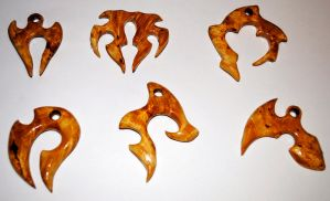 Wooden burl pendants by JOVictory