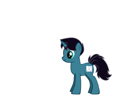 My Ponysona ( Blue Blade with his cutie mark.) by sailorcancer01