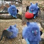 Batceline - Custom Needle Felted Fluffie by SnowFox102