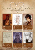 Sexiest male ocs meme filled up by MikaniaC