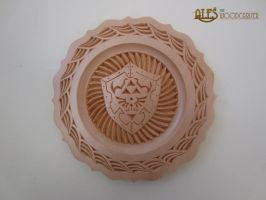 Hylian shield - chip carved basswood plate by alesthewoodcarver