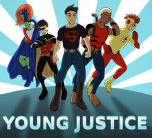 Young Justice by ninja-doodler