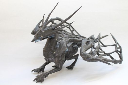 Divinity: Original Sin - Void Dragon Papercraft by Metalfist0