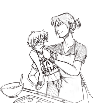 baking cookies by kamidoodles