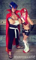 Yoko and Kamina by MartinaNSC