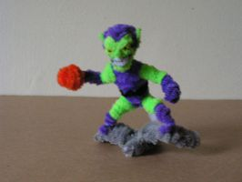 Green Goblin by fuzzyfigureguy