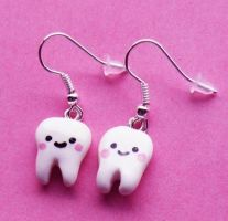 Kawaii Teeth Earrings by AsianBunni