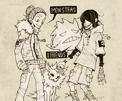 monsters and friends by HJeojeo