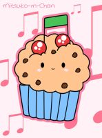 Kawaii Music Cupcake by Mitsuko-m-Chan