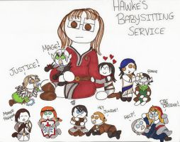 Dragon Age 2: Hawke's Babysitting Service by DivaXenia