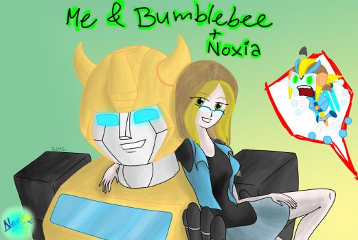 Me and Bumblebee (plus Noxia) by NoxiaPrime