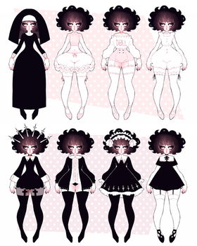 ash outfits 03 by dollieguts