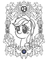Applejack Vintage Profile (Line Art) by Template93