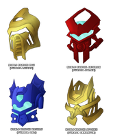 Noble Kanohi designs by DarthDestruktor