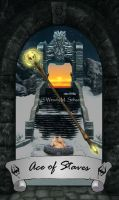 Skyrim Tarot - Ace of Staves (Updated) by Whisper292