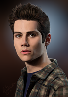 Dylan O'Brien / Stiles Stilinski by johnneh-draws