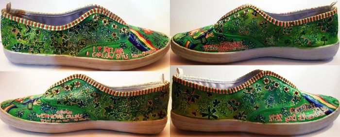 st patrick's day inspired shoes - sides by Zvalosch
