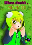 Shy under the GIR Hoodie by Silent-Sid